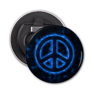 Signe de paix bleu décapsuleur