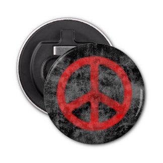 Signe de paix rouge affligé décapsuleur
