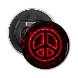 Signe de paix rouge décapsuleur