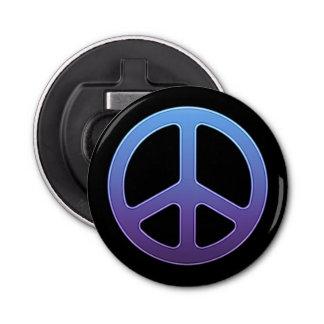 Signe de paix violet bleu décapsuleur