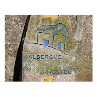 Signe de pension d'Albergue, EL Camino, Espagne Carte Postale