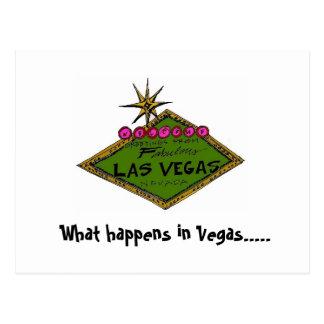 signe de vegas, couleur, ce qui se produit à Vegas Cartes Postales
