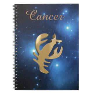 Signe d'or de Cancer Carnets À Spirale