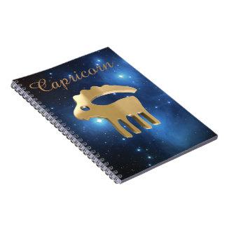 Signe d'or de Capricorne Carnet