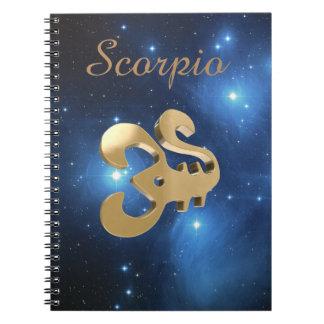 Signe d'or de Scorpion Carnets À Spirale