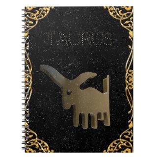 Signe d'or de Taureau Carnet