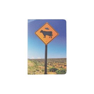Signe étranger de vache protège-passeports