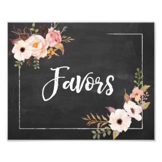 Signe floral de mariage de tableau rustique de photographie