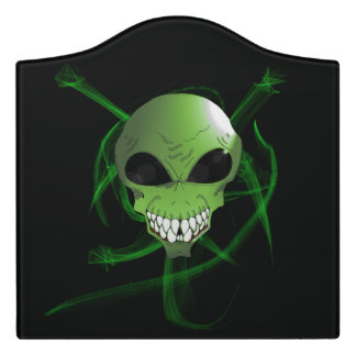 Signe moderne étranger vert de pièce