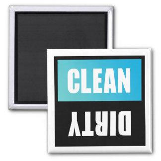 Signe propre ou sale de lave-vaisselle aimant