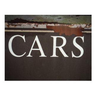 Signe vintage de voiture de dépanneuse de VOITURES Cartes Postales