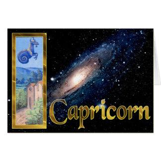 Signes de la carte de voeux de zodiaque -