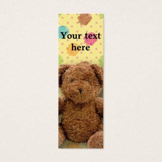 Signet bourré d'ours mini carte de visite
