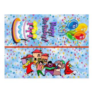Signet de carte postale de joyeux anniversaire