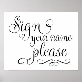Signez votre signe de mariage de livre d'invité de