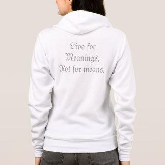 Signification au-dessus du sweat - shirt à capuche