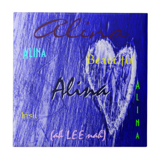 Signification irlandaise nommée d'Alina avec le co Carreau