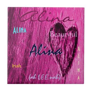 Signification irlandaise nommée d'Alina avec le co Carreaux En Céramique