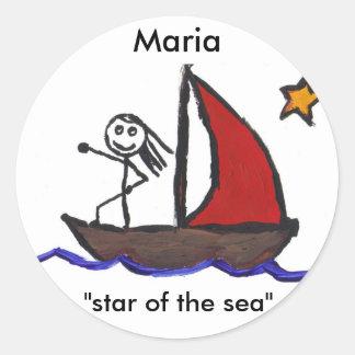 Signification nommée de Maria Sticker Rond