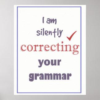 Silencieusement correction de votre citation poster