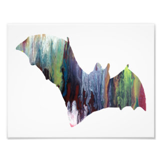 Silhouette abstraite colorée de batte photos d'art