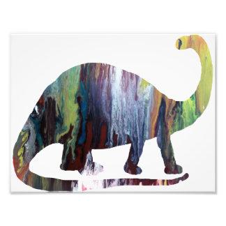Silhouette abstraite de brontosaure impression photographique