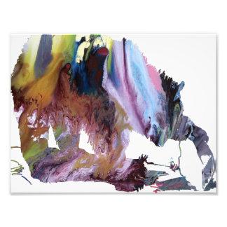 Silhouette abstraite d'ours gris photo sur toile