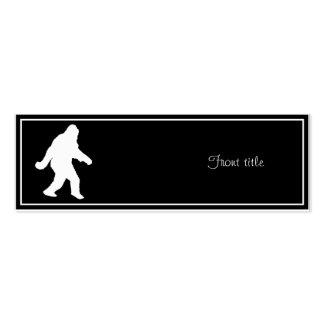Silhouette blanche de Sasquatch pour des milieux f Modèle De Carte De Visite