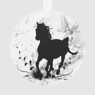 Silhouette, cheval noir