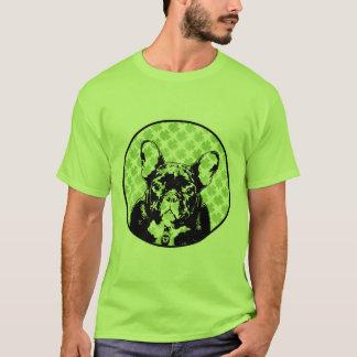 Silhouette de bouledogue français de st patrick t-shirt