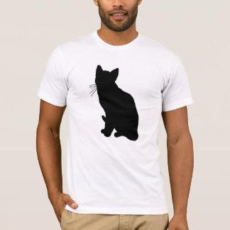 Silhouette de chat t-shirt