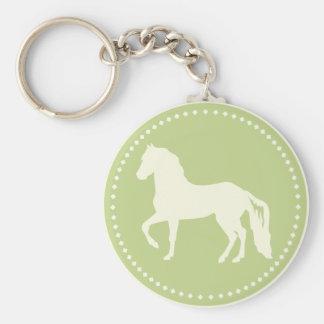 Silhouette de cheval de Paso Fino Porte-clés