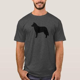 Silhouette de chien de traîneau sibérien t-shirt