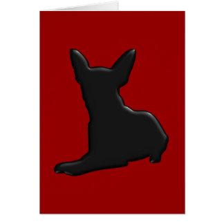 Silhouette de chiwawa de chien cartes de vœux