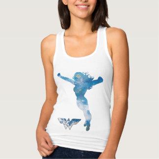 Silhouette de ciel bleu de femme de merveille débardeur