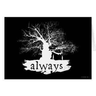 Silhouette de citation du charme   de Harry Potter Carte De Vœux