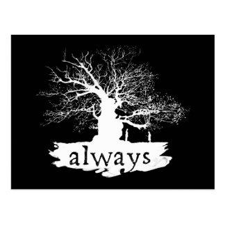 Silhouette de citation du charme   de Harry Potter Carte Postale