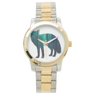 Silhouette de Fox - renard de forêt - art de Montres Bracelet