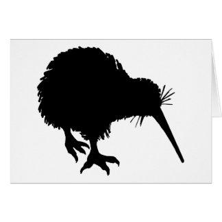 Silhouette de kiwi carte de vœux