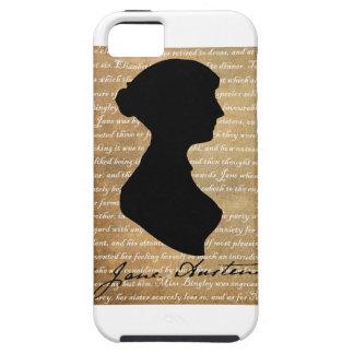 Silhouette de page de Jane Austen Étui iPhone 5