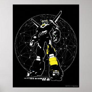Silhouette de Voltron | au-dessus de carte