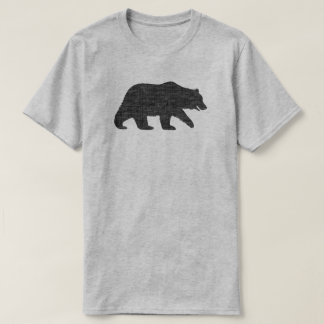 Silhouette d'ours gris t-shirt
