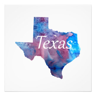 Silhouette du Texas Impression Photo