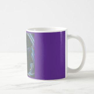 Silhouette d'une personne devant l'univers mug