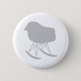 Silhouette grise de chaise de motif de la moitié badge rond 5 cm