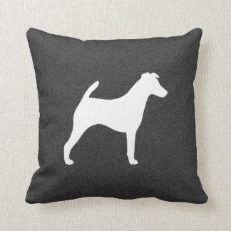 Silhouette lisse de Fox Terrier Coussins Carrés