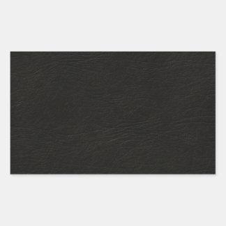 Simili cuir noir autocollant en rectangle