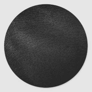 Simili cuir noir sticker rond