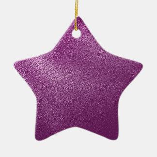 Simili cuir pourpre ornement étoile en céramique
