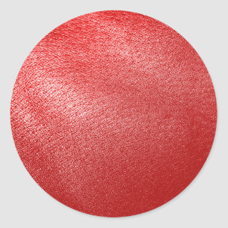 Simili cuir rouge sticker rond